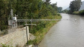 A river water velocity measurement